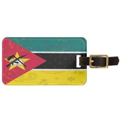 Mozambique Flag Luggage Tag - trendy gifts cool gift ideas customize