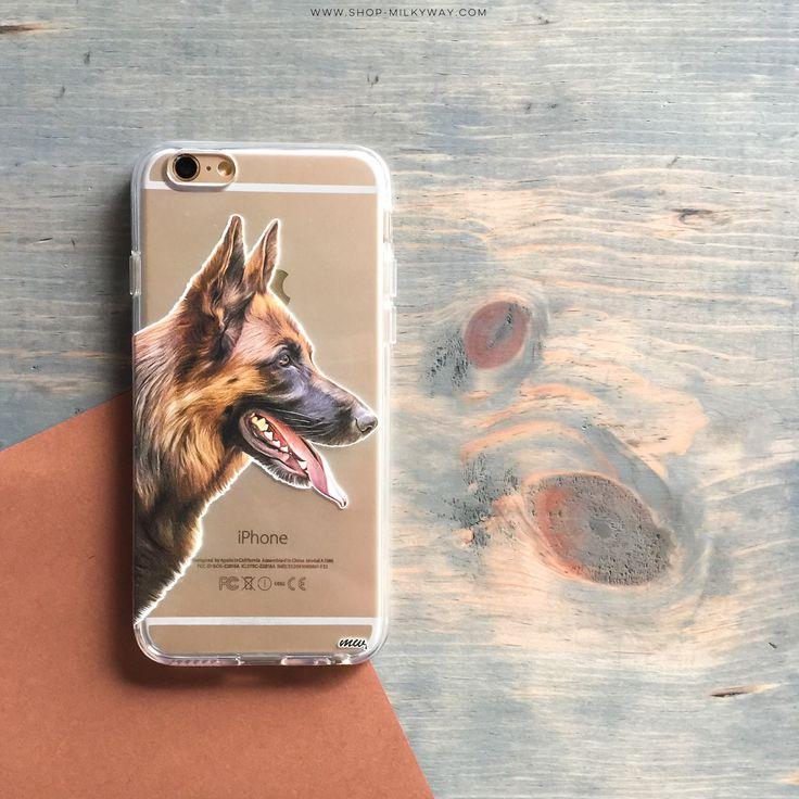 Clear TPU Case Cover - German Shepherd