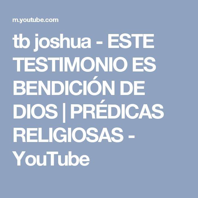 tb joshua -  ESTE TESTIMONIO ES BENDICIÓN DE DIOS | PRÉDICAS RELIGIOSAS - YouTube