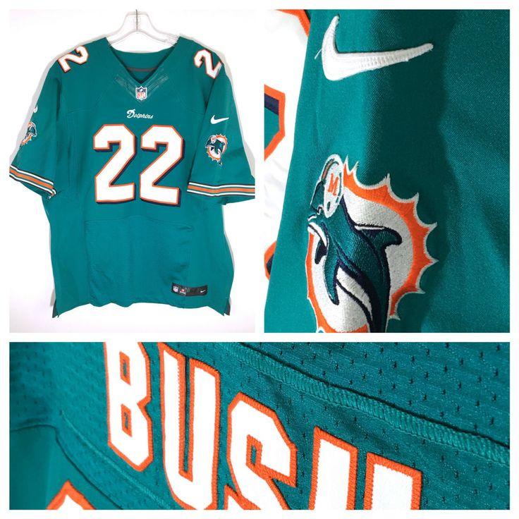 Miami Dolphins Reggie Bush 22 Nike NFL On Field Stitched Sewn Jersey Mens 52…