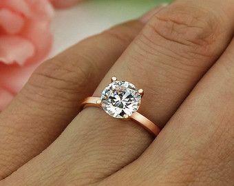 15 ct Verlobungsring Solitär-Ring Man machte von TigerGemstones