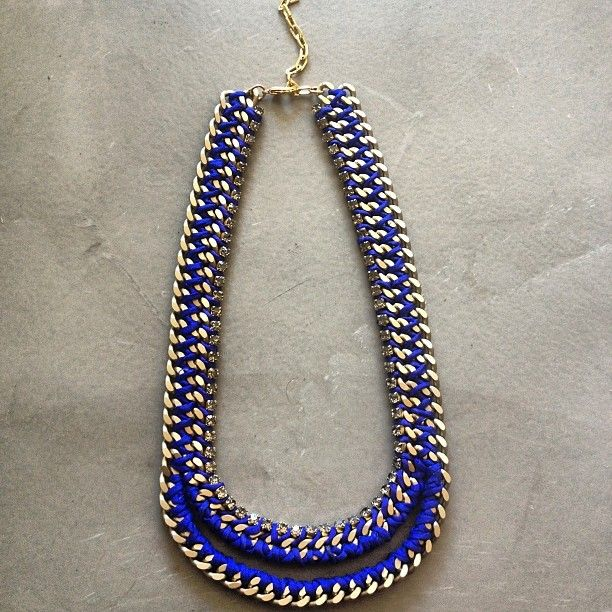 """""""The Mouth"""" necklace in cobalt blue by Hermina Wristwear"""