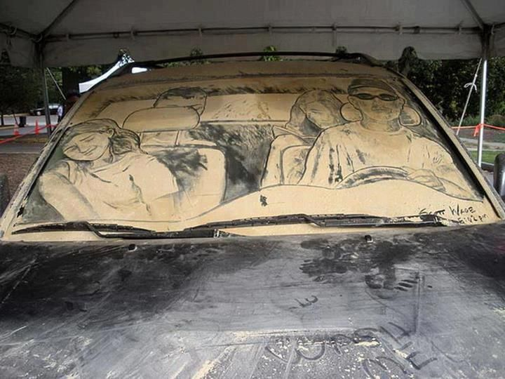 Best Car Dust Art Images On Pinterest Car Artworks And L - Scott wade makes wonderful art dusty car windows
