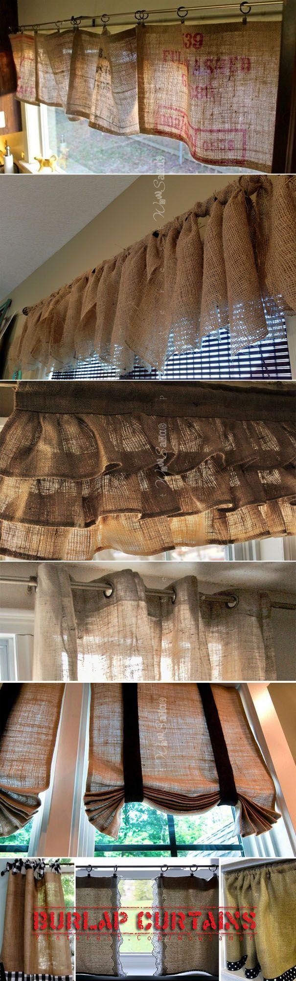 Cortines decoratives per interiors fetes d'Arpillera.