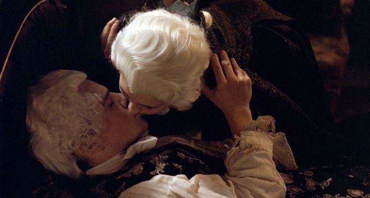 """Still from the 2010 French film, """"Mozart's Sister"""", featuring Le Dauphin [Clovis Fouin] & Anna-Maria Mozart [Delphine Chuillot]."""