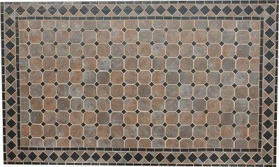 """Dreams4Home Dinning Tisch """"Arcachon"""" - Tisch, Gartentisch, Stahltisch, Tisch mit Keramik Mosaik Platte, mit Keramik Mosaik Platte , B/H/T: 150 x 72 x 90 cm, Kaffeetisch, Stahlgestell, in anthrazit"""