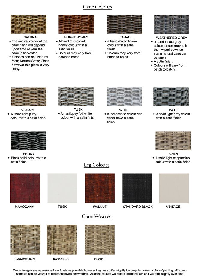 Colours available - to see samples, please visit our showroom - Inside Out Home Boutique