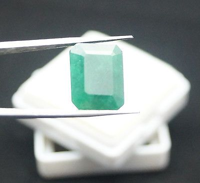 7.50 ct. Natural Top Quality Emerald Cut Colombian Emerald Gemstone ~Certified~.. USD 9.99
