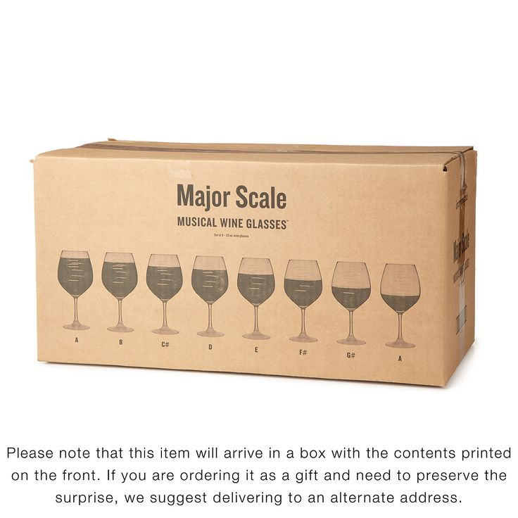 MAJOR SCALE MUSICAL WINE GLASSES - PARTY SET | etched wine glasses, music | UncommonGoods