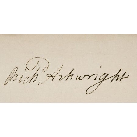Signature Of Sir Richard Arkwright 1732 1792 English Textile Industrialist And Inventor Canvas Art - Ken Welsh Design Pics (20 x 10)