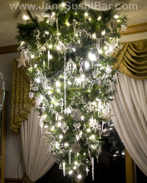 75 best ideas for christmas chandeliers images on pinterest upside down tree christmas light fixture aloadofball Image collections
