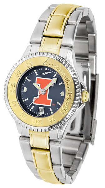 Illinois Fighting Illini Womens Competitor Two Tone Anochrome Watch