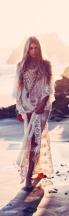 lace dress; beach dress This one too