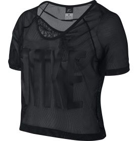 Nike Women's Graphic Mesh Crop Top - Dick's Sporting Goods