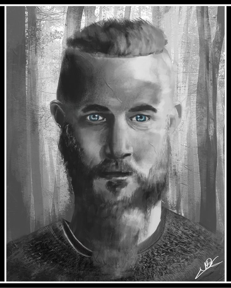 From Personal Challenge : Draw 20 portraits Portrait #08 Ragnar Lothbrock from Vikings
