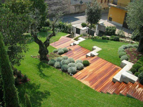 garten anlegen moderne gartengestaltung   home   pinterest ... - Gartengestaltung Hanglage Modern
