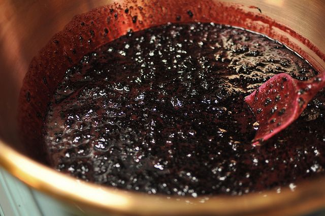So good, rationing it until I can make more next year.....cooking black raspberry jam by Marisa | Food in Jars, via Flickr