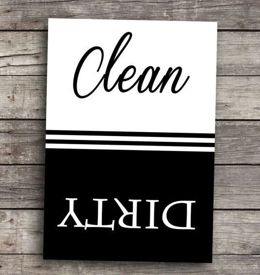 "Everyone needs a Clean/Dirty Dishwasher Magnet! These affordable gifts are 2.5"" x 3.5"" and are perfect for sticking anywhere you wish. The magnets we use are strong - 30 mil - the magnet covers the en"