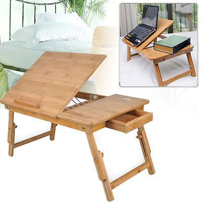 Wooden Portable Laptop Notebook Computer Desk Table Bed Stand Work Lap Top Tray
