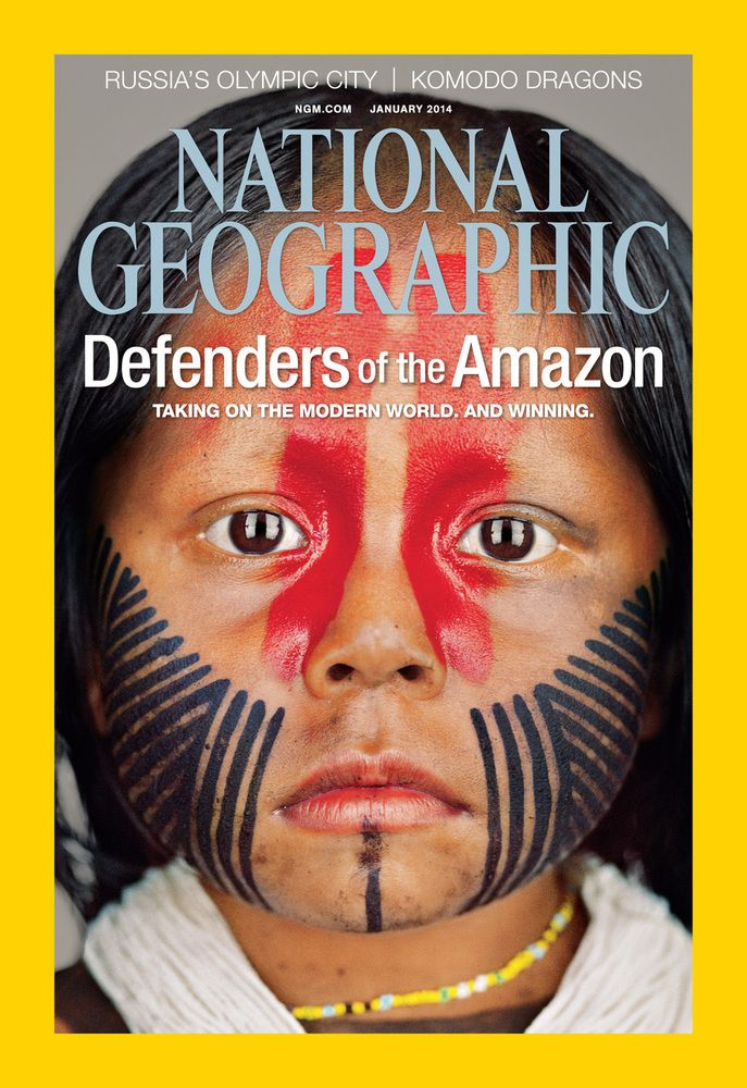 Brazil's Kayapo Indigenous Tribe Juggles Tradition With Modernity (PHOTOS). National Geographic magazine's January cover.