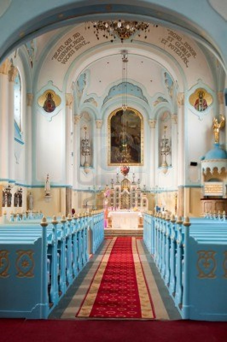 Blue church (slovak: Modry kostol) interior photo. Bratislava, Slovakia.