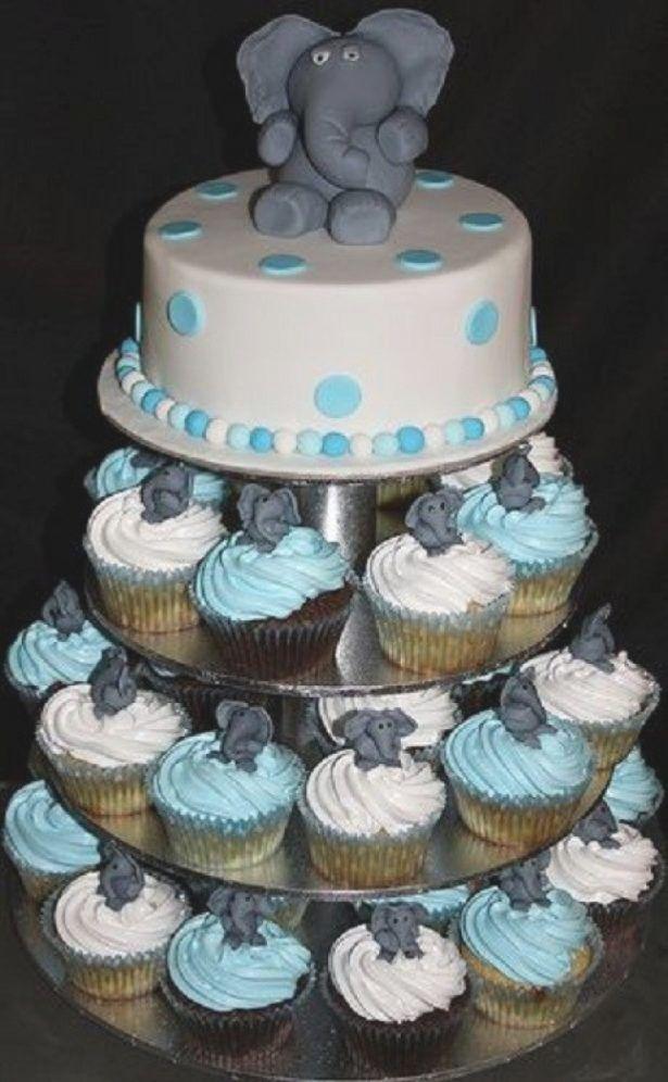 Cupcakes Baby Shower Cupcake Cakes Elephant Cupcakes