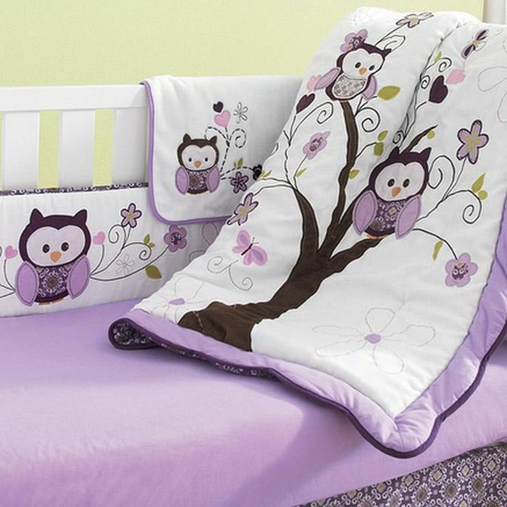 Baby Crib Bedding Sets Canada New Purple Violet Aqua Baby Owl