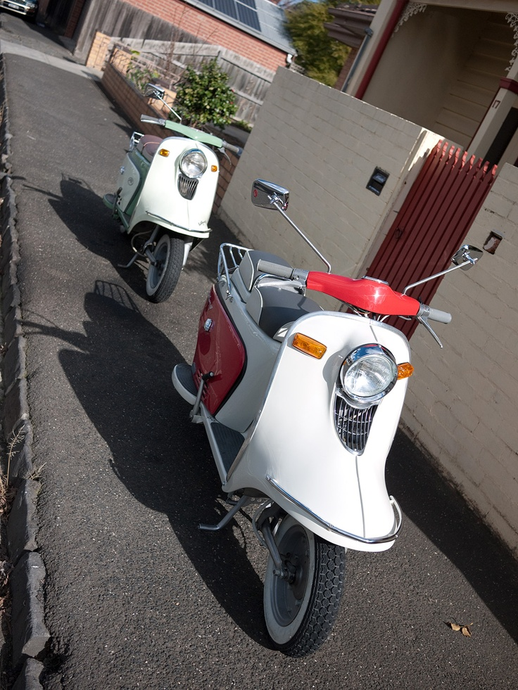 1963 402AT junior & 1968 402BT2 touring, both 150cc.
