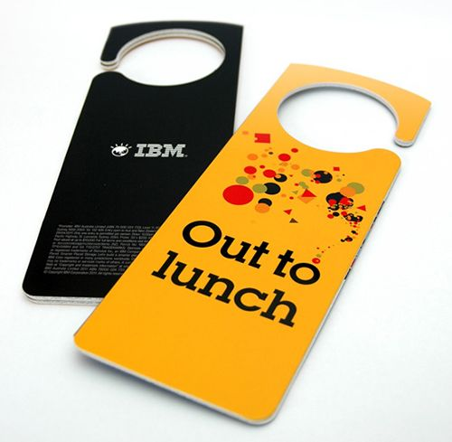 creative door hangers always helps us to convey message to the unknown visitors doorhangers