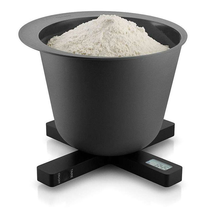 Eva Solo's digital kitchen scale weighs in 1 gram increments from 2 grams to 5 kilograms. It can be set to all international units of measurement: g, oz, lb and ml and the flat design means it packs neatly away in a drawer.