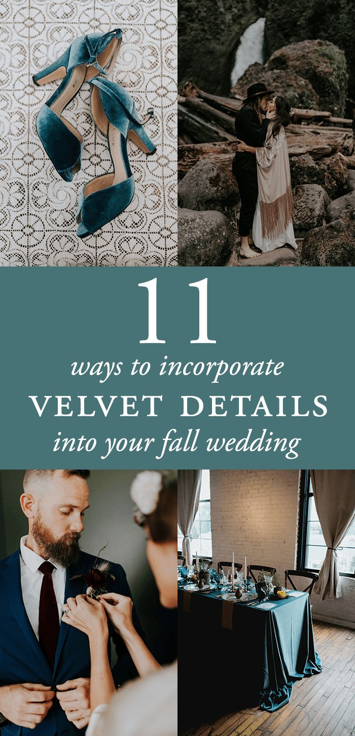 11 Ways to Incorporate Velvet Details into Your Fall Wedding | Junebug Weddings