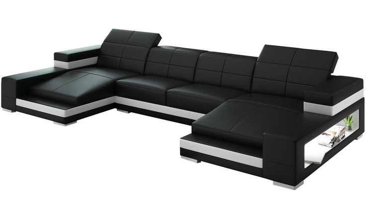 Aubrey Double Chaise Sectional (I think I'd want mine in purple with black trim)