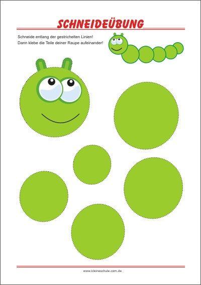 schneideübungen für kinder  pdfdruckvorlagen in 2020