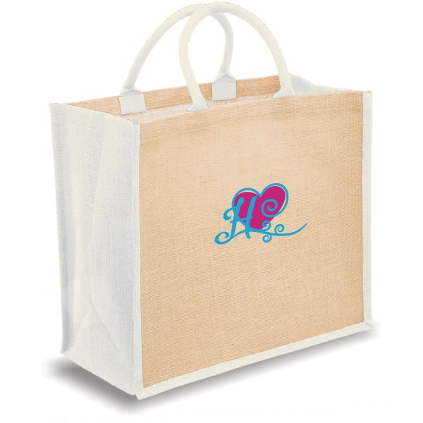 Personalized Bridal Tote Bags with pink heart and monogram