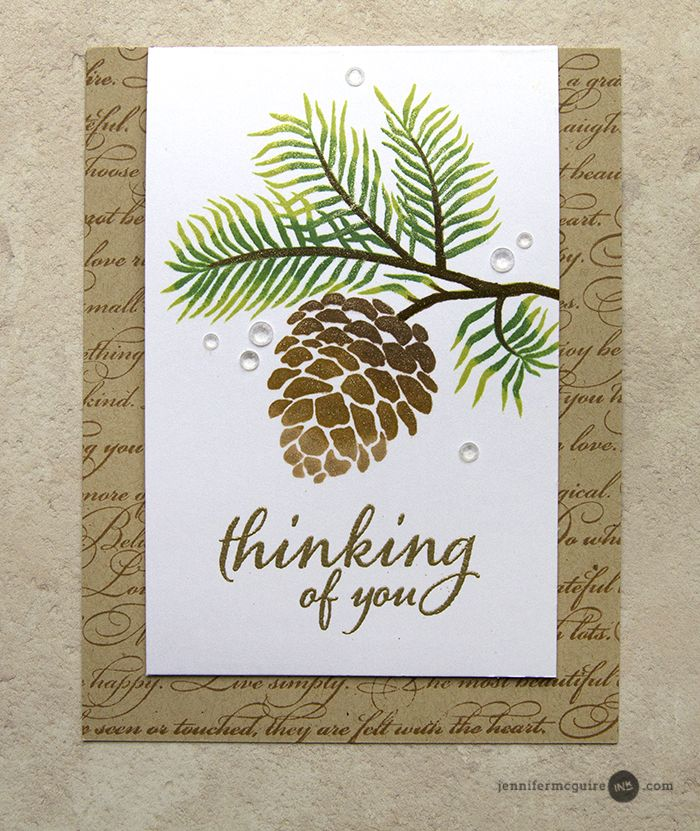 VIDEO - Hi! Today I share a simple flap card design along with tips for achieving a gorgeous stamped image!