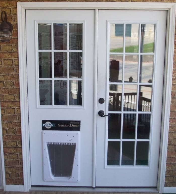 With frosted glass and doggie door for Harry and Darby to use- Master  bathroom door - 45 Best Images About Patio Doors On Pinterest Doggies, Arches