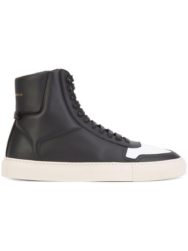 uitgezocht Givenchy High-Top-Sneakers mit kontrastierender Kappe (zwart)