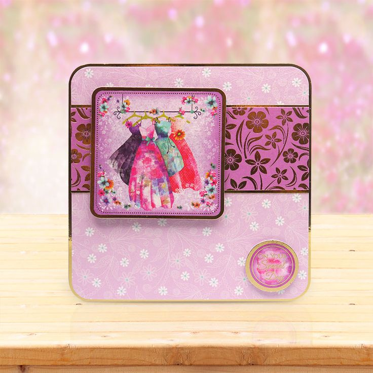 This card was made using the 'Floral Cups & Pretty Dresses' topper set from the Shimmering Pearl collection by Hunkydory Crafts http://www.hunkydorycrafts.co.uk/papercraft/hunkydory-collections/shimmering-pearl/shimmering-pearl-topper-set-floral-cups-pretty-dresses-shpearl90.html