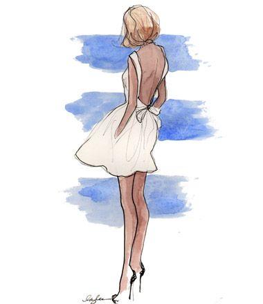 .Fashion Models, Fashion Sketches, Dresses Sketches, Art, Victoria Secret, Dinner Dresses, Fashionillustration, Fashion Illustration, Little White Dresses