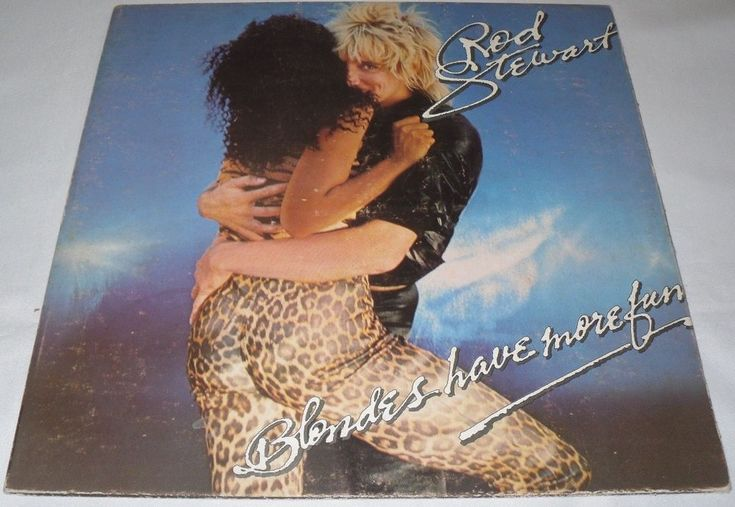 ROD STEWART - BLONDES HAVE MORE FUN - VINYL LP Hecho en Venezuela