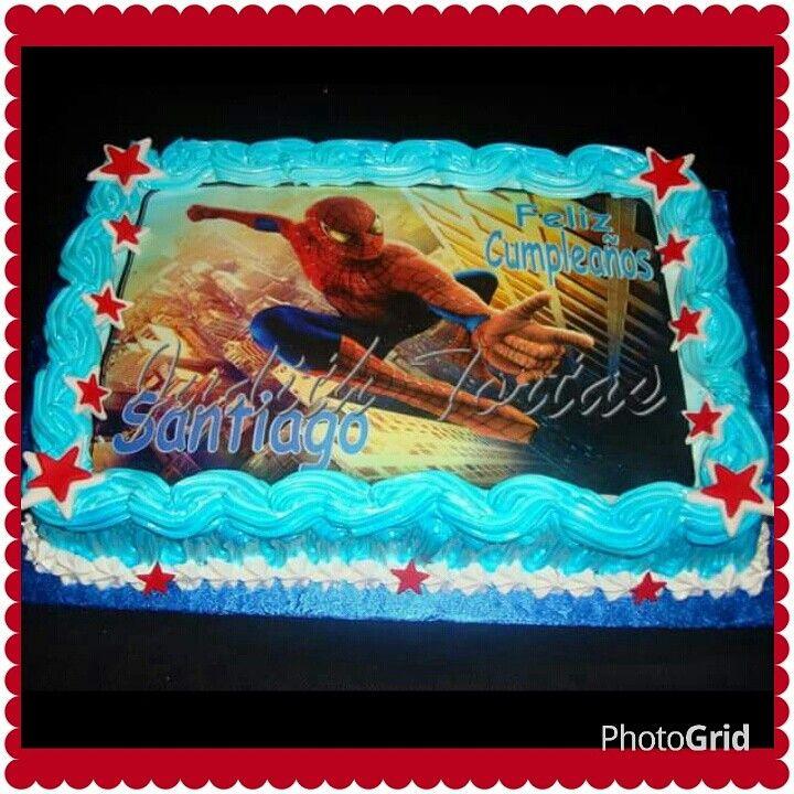 Torta Decorada Con Merengue Quot Spiderman Quot Tortas Decoradas