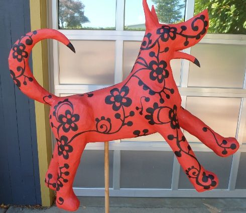 Papier Mache Tutorial: House InsideOut: Making A 3D Papier Mache Animal Sculpture: Part 2