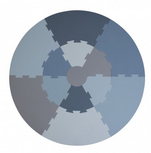 krabbelmatte rund blau