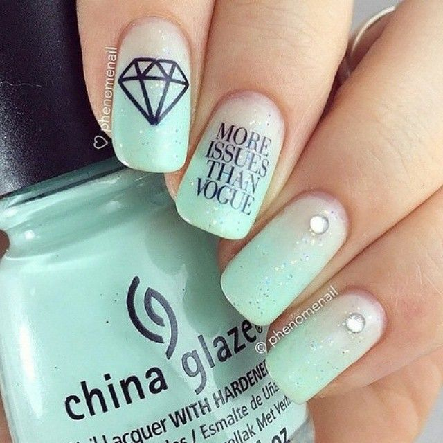 Mejores 16 imágenes de nail art en Pinterest   Arte de uñas ...