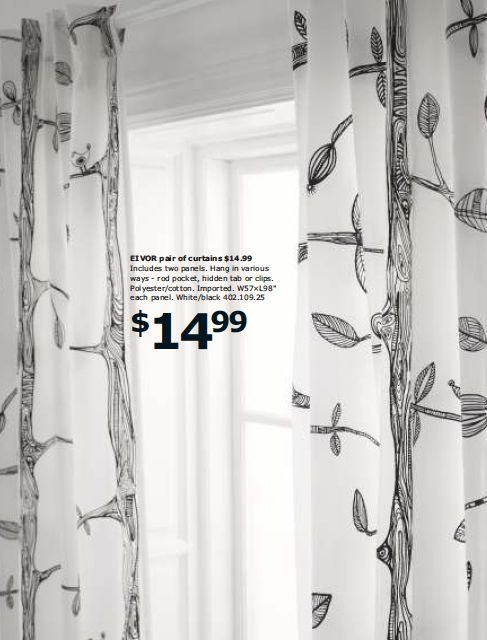 2013-ikea-catalog - would be great decoupaged onto the black bookshelves