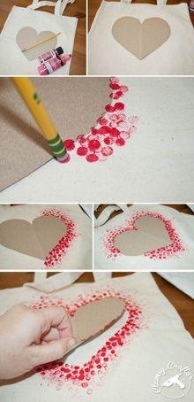 Een hart maken met papier en stempels