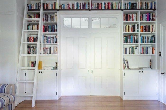 best 25 custom bookshelves ideas on pinterest built in. Black Bedroom Furniture Sets. Home Design Ideas