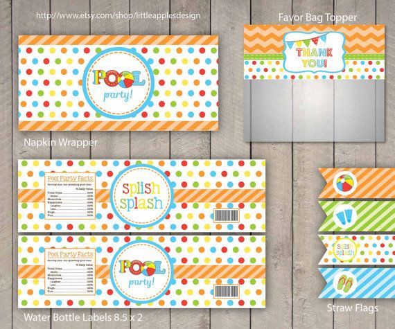 Pool Party / Kids Pool Party / Pool Birthday by LittleApplesDesign, $12.00