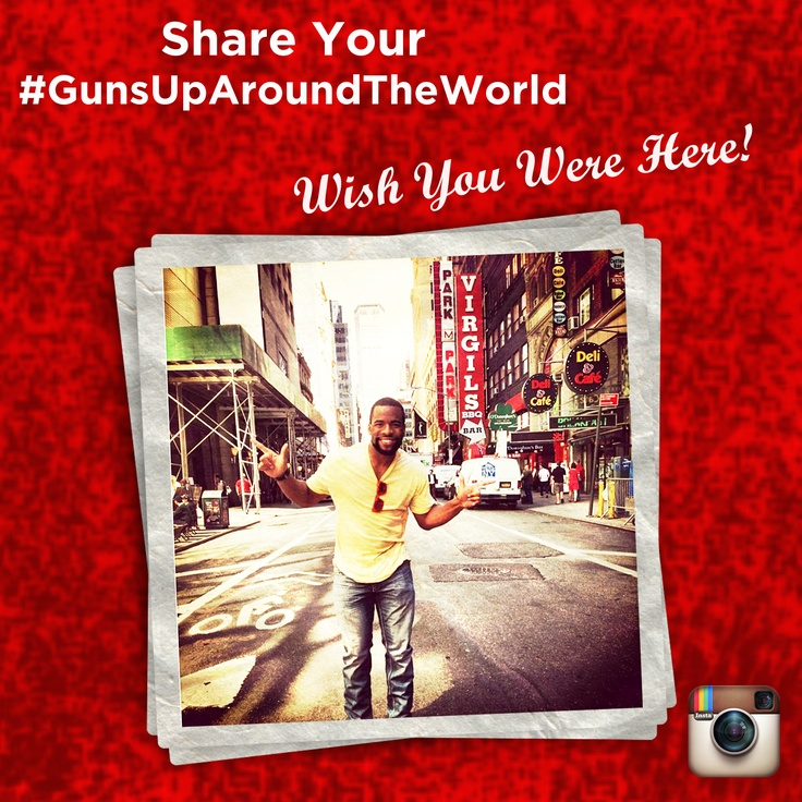 Don't forget to Instagram your photos with your Guns Up all around the world this summer for you chance to win Texas Tech Football Tickets. Contest Details here: http://instagram.com/p/aGbxrCDymm/#