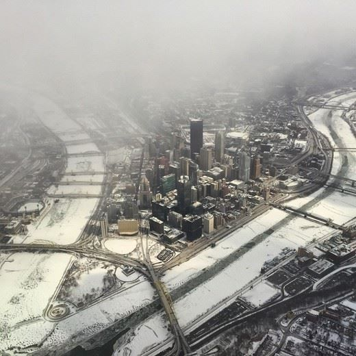Pittsburgh Post Gazette Frozen Downtown Pittsburgh February 2015